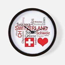 Cute Schweiz Wall Clock