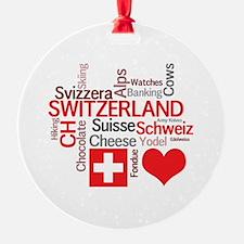 Cute Swiss cheese Ornament