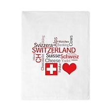 Cute Swiss flag Twin Duvet
