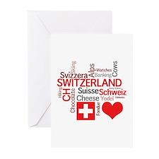 I Love Switzerland Greeting Cards