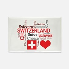 I Love Switzerland Magnets