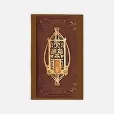 Art nouveau booklet 3'x5' Area Rug
