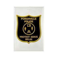 Porchville Police Rectangle Magnet (10 pack)