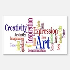 Artists Word Cloud, Creativity Decal