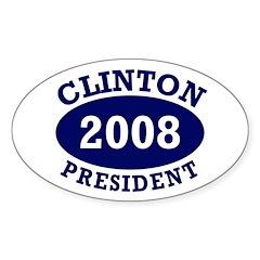 Clinton President 2008 Oval Decal