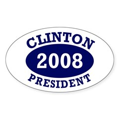 Clinton President 2008 Oval Decal
