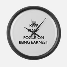 Funny Keen Large Wall Clock