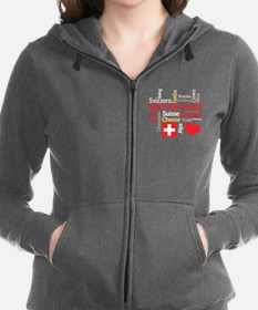 Unique I love chocolate Women's Zip Hoodie