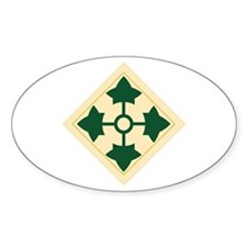 4th Infantry Division Oval Decal