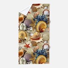 Seashells And Starfish Beach Towel