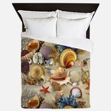 Seashells And Starfish Queen Duvet