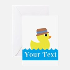 Personalizable Rubber Duck Greeting Cards