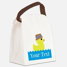 Personalizable Rubber Duck Canvas Lunch Bag