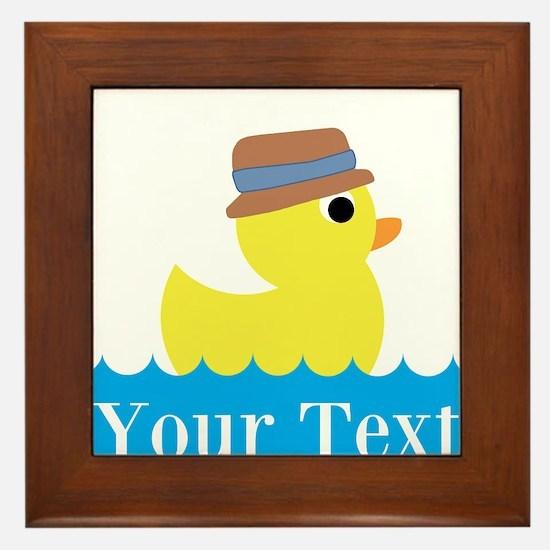 Personalizable Rubber Duck Framed Tile