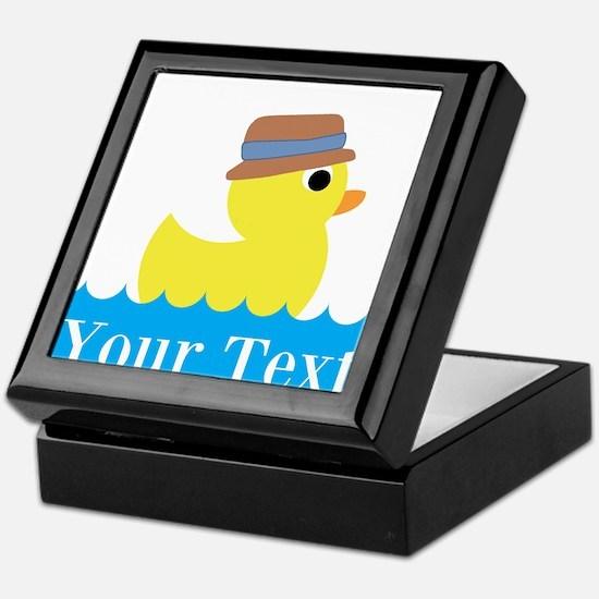 Personalizable Rubber Duck Keepsake Box