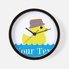 Personalizable Rubber Duck Wall Clock