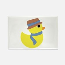Rubber Duck in Scarf and Hat Magnets