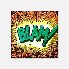 """Blam Comic Phrase Square Sticker 3"""" x 3"""""""