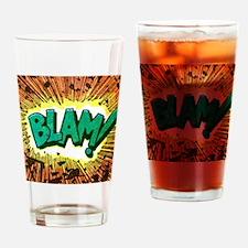 Blam Comic Phrase Drinking Glass