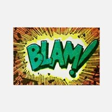 Blam Comic Phrase Rectangle Magnet