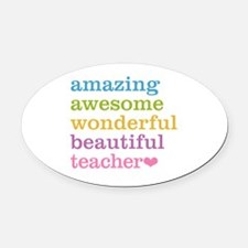 Amazing Teacher Oval Car Magnet