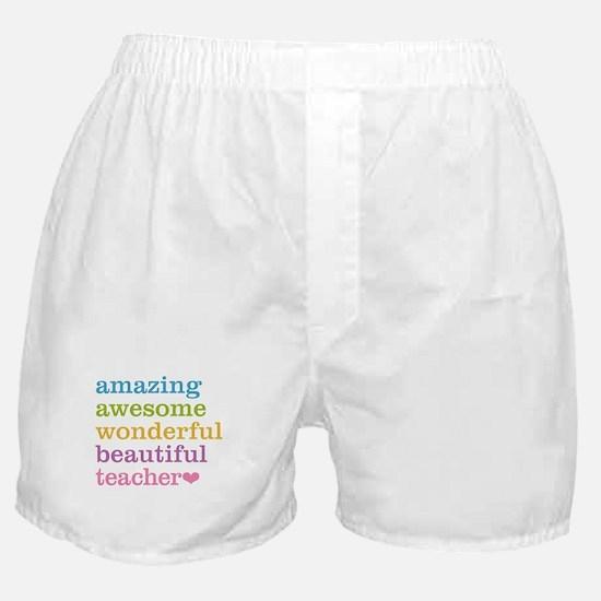 Cute Teacher Boxer Shorts