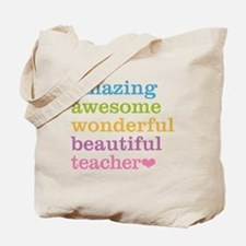 Cute Wonderful teacher Tote Bag