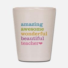 Cute Awesome teacher Shot Glass