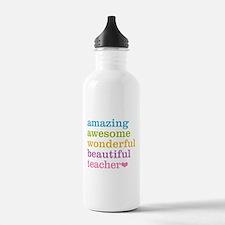 Unique Worlds greatest teacher Sports Water Bottle