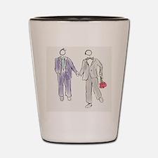 Gay Couple Shot Glass