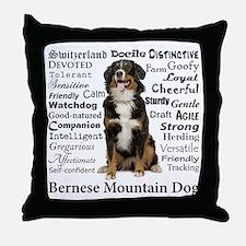 Berner Traits Throw Pillow