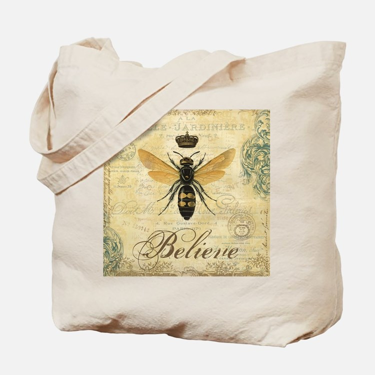 modern vintage French queen bee Tote Bag