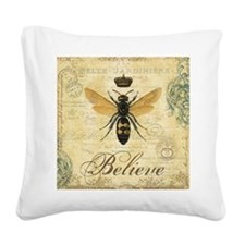 modern vintage French queen bee Square Canvas Pill