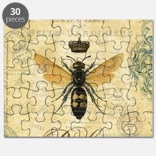 modern vintage French queen bee Puzzle