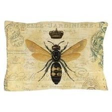 modern vintage French queen bee Pillow Case