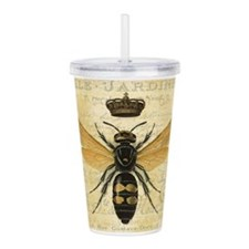 modern vintage French queen bee Acrylic Double-wal