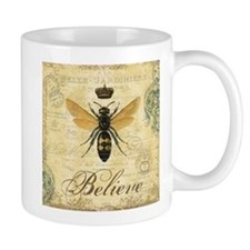 modern vintage French queen bee Mugs