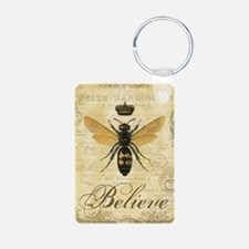 modern vintage French queen bee Keychains