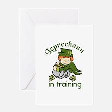 Leprechaun in Training Greeting Cards