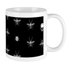 Gothic Insects And Skulls Pattern Mugs