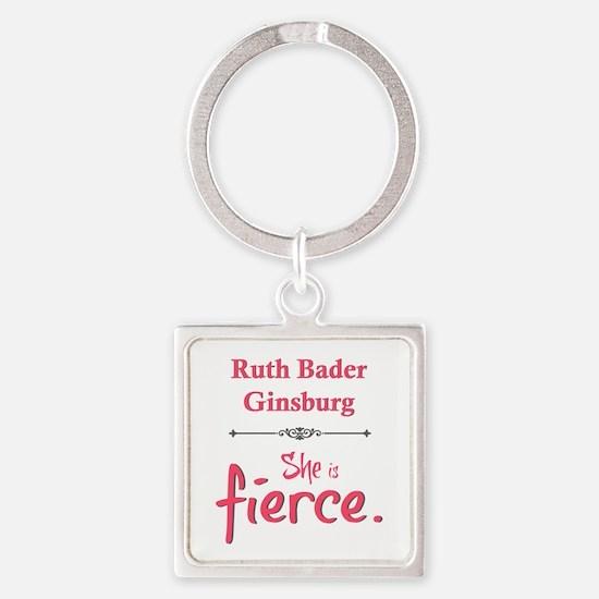 Ruth Bader Ginsburg is fierce Keychains