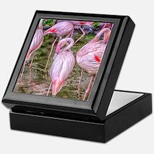 Pink Flamingos Keepsake Box