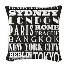 modern destinations Woven Throw Pillow