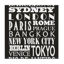 modern destinations Tile Coaster