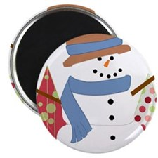 Snowman in the Christmas Trees Magnets