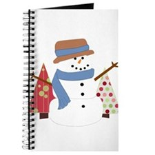 Snowman in the Christmas Trees Journal