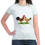 Buff Catalana Chickens2 Jr. Ringer T-Shirt