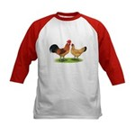 Buff Catalana Chickens2 Kids Baseball Jersey