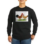 Buff Catalana Chickens2 Long Sleeve Dark T-Shirt