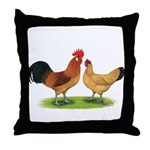 Buff Catalana Chickens2 Throw Pillow